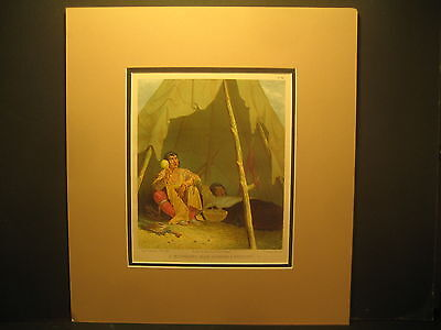 Seth Eastman N.A., Medicine Man,color litho 1851