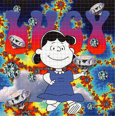 LUCY IN THE SKY - BLOTTER ART - psychedelic perforated LSD acid art hofmann