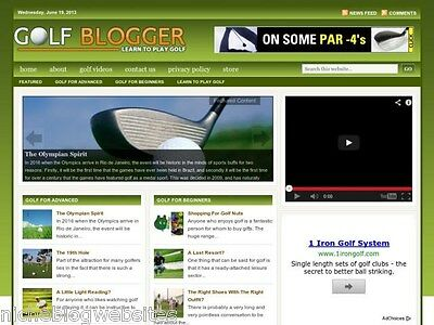 Golf Lessons / Clubs / Courses Resource Tips Blog Site For Sale!