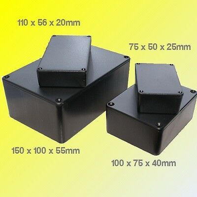 ABS Black Plastic Electronics Project Box Enclosure Hobby Case With Screws