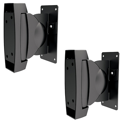 2 Wall Mount Speaker Brackets Surround Sound Stereo Mounts TV Volume Film Music