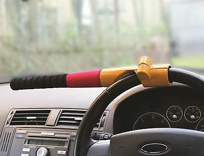 Safe Car & Van Security Anti Theft Baseball Bat Steering Wheel Lock Clamp Cover