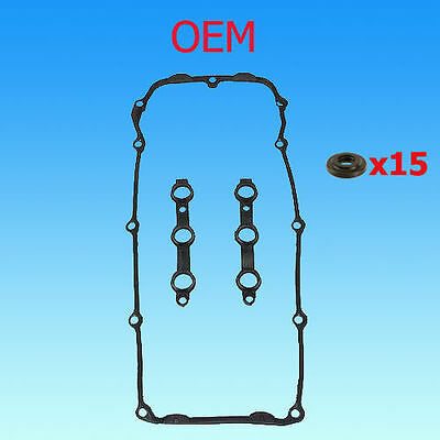 BMW REINZ / ELRING OEM GERMANY VALVE COVER GASKET SET w/15 BOLT SEALS E46 E39 Z3