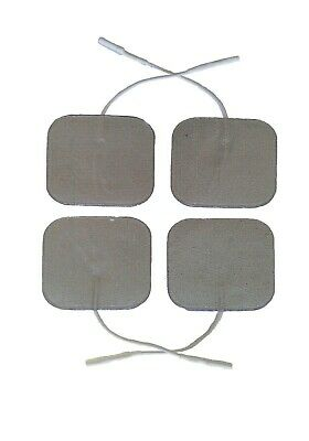 Premium Silver Tens Electrodes Pads 4 Square Highly Adhesive Tens Pads