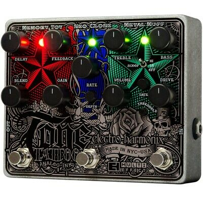 Electro Harmonix Tone Tattoo Analog Multi Effects Delay Flanger Chorus  Pedal