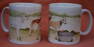Saluki Hound Dog Mug Off To The Dog Show Watercolour Print Sandra Coen Artist