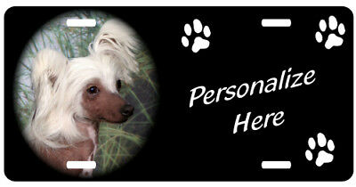 Chinese Crested 2    Personalized Pet License Plate