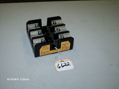 Bussman Fuse Block P/N T60100-3C 100A 600V Class T Fuse Only (NEW)