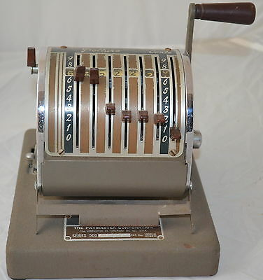 Vintage Paymaster Check Writer Series 500