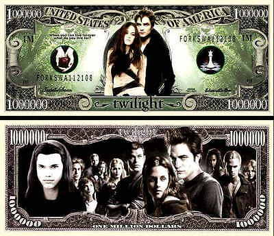 TWILIGHT - BILLET 1 MILLION DOLLAR US !! Collection Série Fantastique Collector