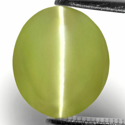 7.37-Carat Splendid Greenish Yellow Indian Chrysoberyl Cat's Eye