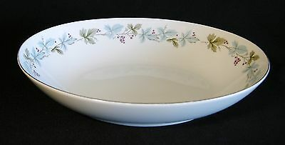 "Fine China of Japan Vintage 10"" Oval Vegetable Bowl Leaves Grapes Serving FLAWS!"
