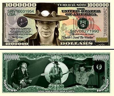 STEVIE RAY VAUGHAN BILLET DE COLLECTION MILLION DOLLAR US! SRV Vaughn Blues Rock