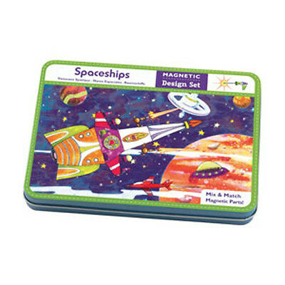 Mudpuppy -- Mix & Create a design with these Magnetic Design Parts -- Spaceships