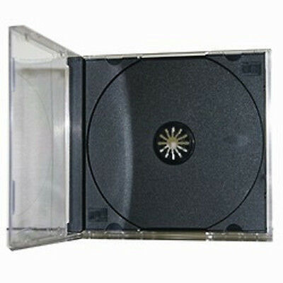 200 New Black Single Standard CD DVD Jewel Case 10.2mm by UPS ground