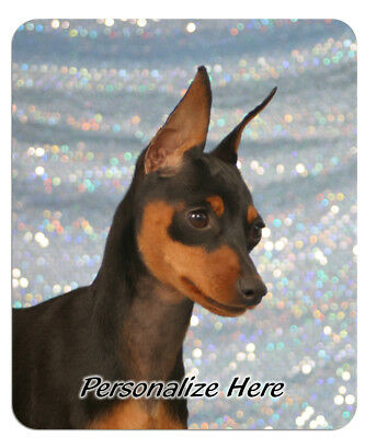 Miniature  Pinscher   red  Personalized  Mouse Pad