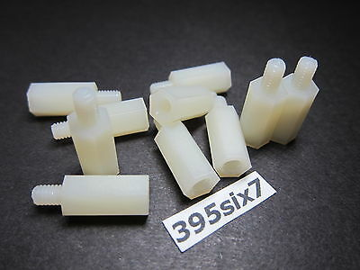 10x Nylon Standoff Spacer M4 Male x M4 Female - 15mm