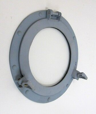 "11"" Porthole Glass / Window ~ Battleship Grey ~ Aluminum ~ Nautical Maritime"