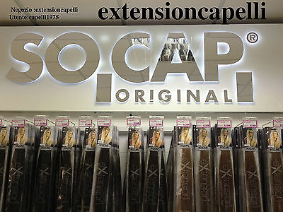Extension Original Socap 100Ciocche Mosse In Cheratina 100%naturali 50Cm