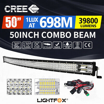 20inch 210W Philips LED Light Bar SPOT FLOOD Combo OFFROAD Work Lamp Lumileds