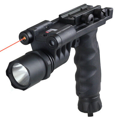 New Tactical Fore Grip Flashlight w/Tracking Light&Red Laser Combo CL15-0010