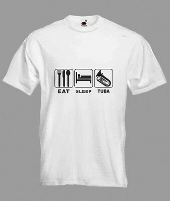 Eat Sleep Tuba Brass T-shirt in all Sizes & choice of colours