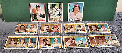 Vintage 13 Card Lot of Topps Baseball Cards 81 - 82 - 83 Assorted Lot