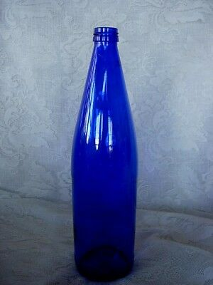Collectible Cobalt Blue Glass Bottle - Beautiful in a Window