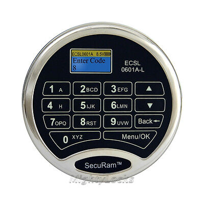 SecuRam Electronic Digital Keypad Lock For Any Safe S&G Amsec CSS Time Delay LCD