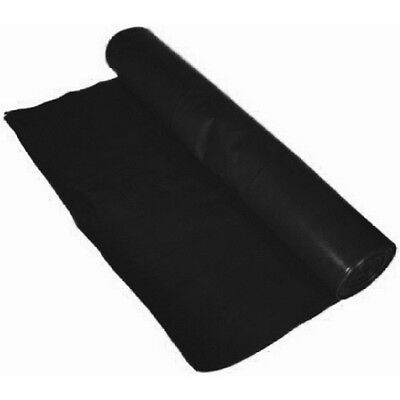 Heavy Duty Black Polythene DPM 250mu 1000 gauge - 4mtr x 25mtr