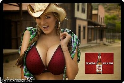 Lonestar Beer Sexy Cowgirl Refrigerator Toolbox Magnet