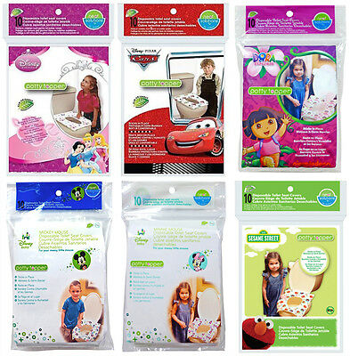 10 Pack Potty Topper Disposable Stick In Place Travel Toilet Seat Covers - 58223