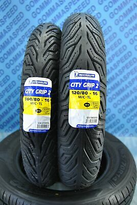 Coppia pneumatici Michelin City Grip per SH 125, 150 Agility 125,150 gomma DOT16