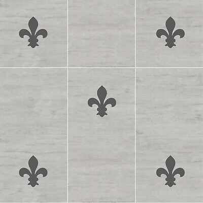 20 FLEUR DE LYS Tile Stickers Transfer Decals | Bathroom Kitchen Waterproof | T3