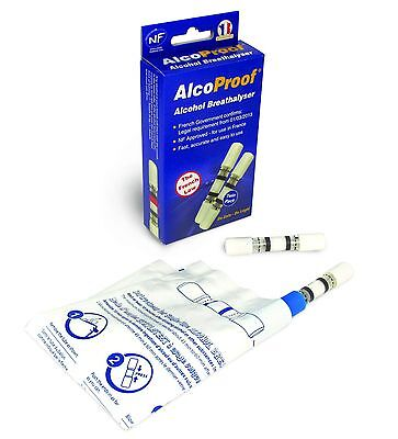 Pack Of 2 NF French Approved Breathalyzer Test Kits Legal Requirement In Car