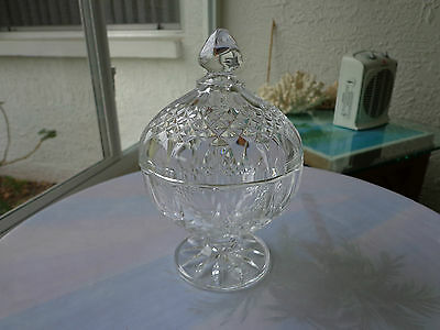 Cris d'Arques/Durand Longchamp Pattern Small Crystal Candy Dish