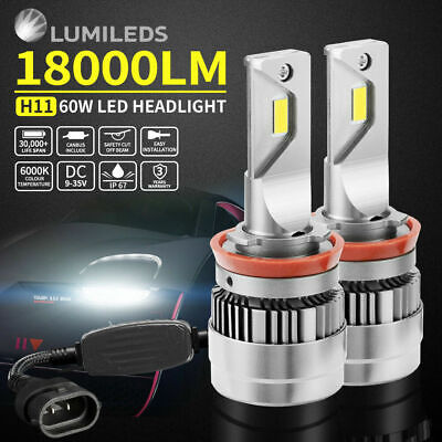 108W H11 18000LM Philips LED Headlight KIT HIGH LOW Beam Replace Halogen Xenon