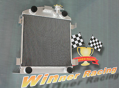 56mm aluminum radiator for Ford Lowboy chopped w/flathead V8 engine 1932-1939