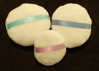 """Powder Puffs 5"""" & 3 1/2"""" Sizes Body Powders Spring Colors Seasons of the Earth"""