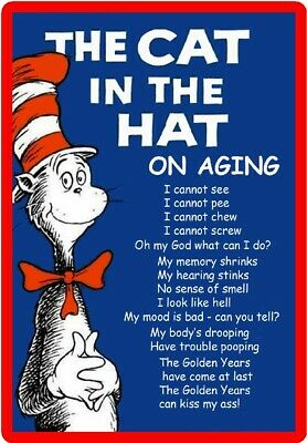 Dr. Suess The Cat In The Hat On Aging Refrigerator Magnet