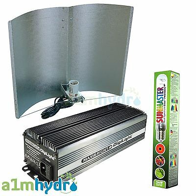 Maxibright 400W Grow Light Kit Digital Ballast Adjustawing Shade Hydroponics