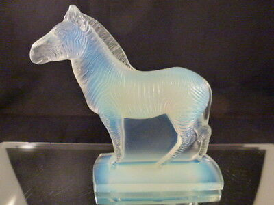 Vintage Sabino Glass  Zebra   France Deco Style  Never Used  Mint