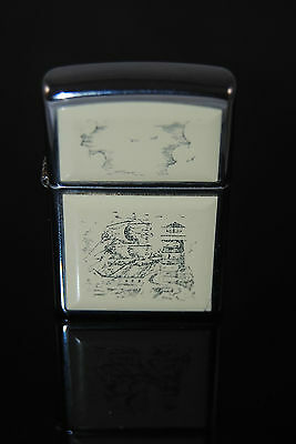 Working 2002 Zippo sailing theme lighter