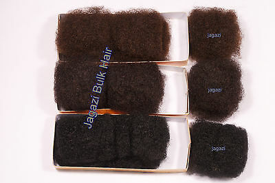 Super Soft 100% Human Hair Afro Kinky BULK. Premium Hair Extension. 1,1B,2,4,33