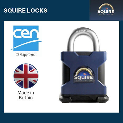 SS65S HIGH SECURITY PADLOCK, Open Shackle CEN 5 from Squire