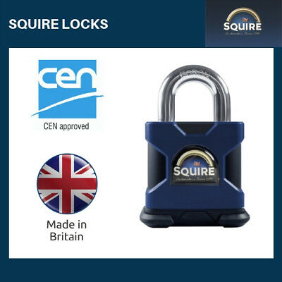 SS50S HIGH SECURITY PADLOCK, Open Shackle CEN 4 from Squire