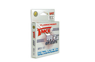 Fluorocarbon - Take Akashi UltraClear 50 Mt fluorocarbon terminale bava PB2419
