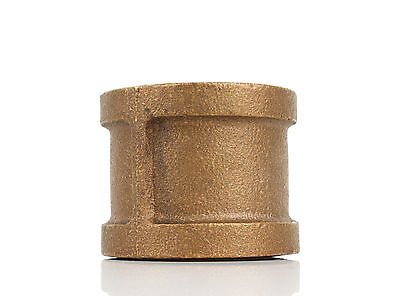 "1-1/4"" Brass Coupling Fitting Plumbing Thread"
