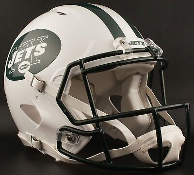 6ff4f6a5 NEW YORK JETS NFL Riddell SPEED Full Size Authentic Football Helmet ...