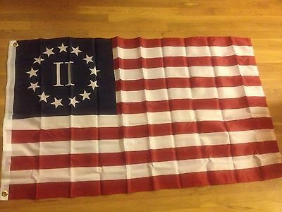 Historical Betsy Ross Nyberg II 2 percent Flag SuperPoly 3x5 Flag Banner